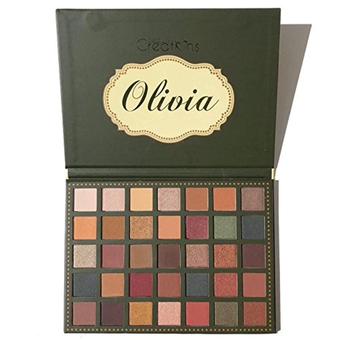 フレームワーク不格好規模(3 Pack) BEAUTY CREATIONS 35 Color Eyeshadow Palette - Olivia (並行輸入品)