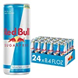Red Bull Energy Drink Sugar Free 24 Pack 8.4 Fl Oz, Sugarfree