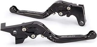 BLACK Motocicletta Breve Leve Freno e Frizione CNC in Alluminio Regolabile per Moto Sportiva YAMAHA FZ-10//MT-10 FJ-09//MT-09 Tracer FZ-09//MT-09//SR FZ-07//MT-07 SPL096