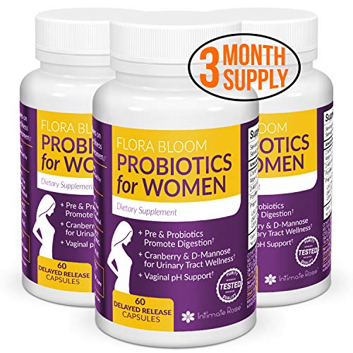3 Month Supply of Ultimate Flora Bloom Probiotic Supplement for Women - Healthy Vaginal Probiotic -...