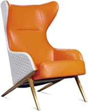Garden Chair Lounge Chairs PU Leather Lounge Chair with Ottoman for Living Room,Bedroom,Club,Office Lounge Armchair (Color...