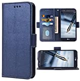 Phone Case for LG Stylo 3 / Stylo3 Plus Folio Flip Wallet Case,PU Leather Credit Card Holder Slots Heavy Duty Full Body Protection Kickstand Protective Phone Cover for LGstylo3 3+ Stylus 3 Dark Blue