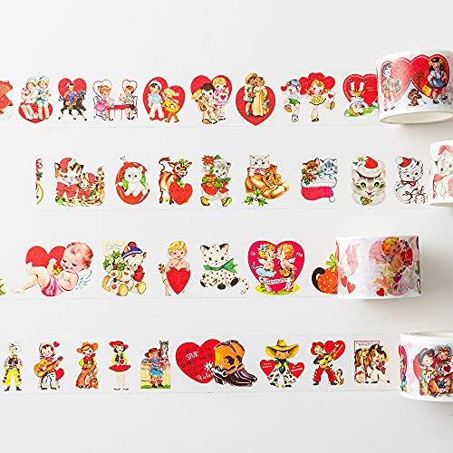 PMSMT 1 Uds./1 Lote de Cintas Adhesivas Decorativas, Pastel Dulce, Animales encantadores, álbum de Recortes, Papel DIY, Pegatinas para álbum de Recortes, 3 m