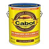 Cabot 140.0016337.007 Semi-Transparent Deck & Siding Low VOC Stain, Gallon, Cordovan Brown
