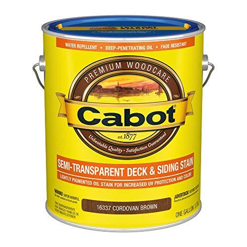 Cabot 140.0016337.007 Semi-Transparent Deck & Siding Low VOC Stain, Gallon, Cordovan Brown