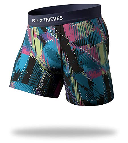 Pair of Thieves Men's Cool Breeze Boxer Briefs, Legerdemain, Medium