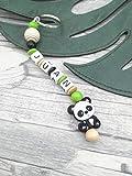 Schnlüsselanhänger Panda, Baby Schlüsselanhänger mit Namen, personalisierbar