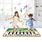 Upgrow Tanzmatte, Kinder Musikmatte, Klaviermatte mit 8 Instrumenten, Klaviertastatur Musik Playmat Spielzeug für Babys, Kinder, Mädchen und Junge (135*58cm Tier)
