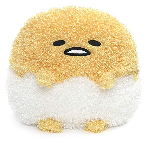 GUND Sanrio Gudetama Deluxe Egg in Shell Lazy Egg Plush Stuffed Animal, Yellow, 9.5""