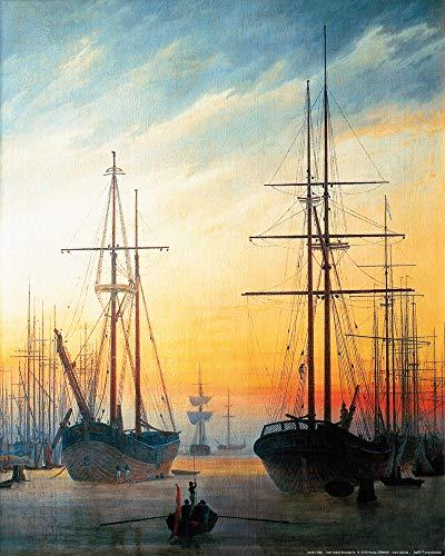 1art1 Caspar David Friedrich - Ansicht Eines Hafens, 1815-16 Poster Kunstdruck 50 x 40 cm