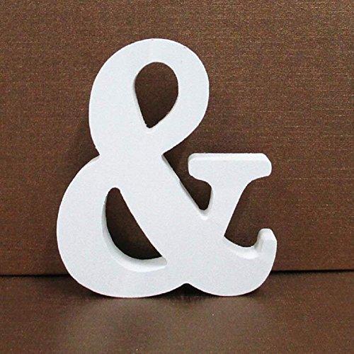 Gspirit Decorativo De Madera Letras, Pared Letras 26 Letras Madera Alfabeto para Niños Bebé Nombre Cumpleaños Fiesta Boda Casa Decoración (&)