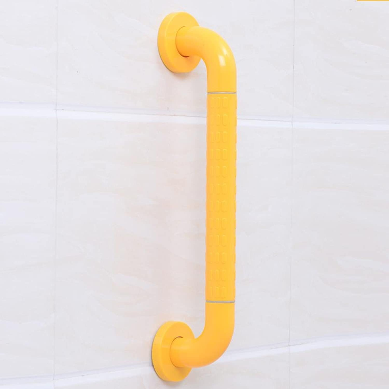 KHSKX Lined handrails bathroom safety skid against the wall handrail, disabled toilets , Yellow