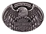 Harley-Davidson Men's Born to Fly Belt Buckle, Antique Nickel Finish HDMBU11401