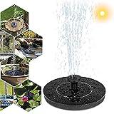 Fuente de jardín estanques, bomba solar, fuente solar con decoración 8 Wassersprühzubehör Solar flotante fuente bomba para Garden Pond Fish Tank Pool