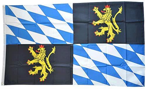 Flaggenfritze® Flagge/Fahne Deutschland Rheinische Pfalzgrafschaft Kurpfalz - 90 x 150 cm, 115 gr/m²