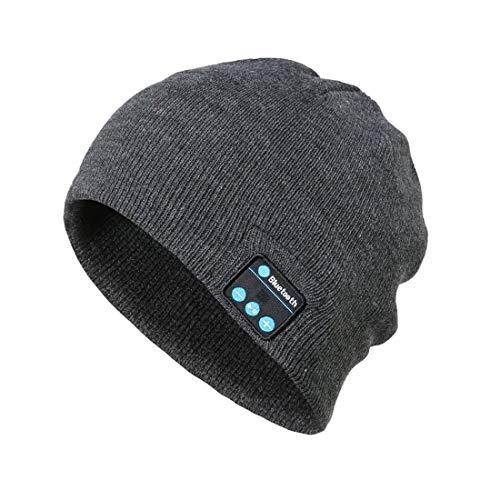 Preisvergleich Produktbild vbncvbfghfgh Drahtlose Musik Hut Universal Smart Caps Winter warme Mützen Strickmütze mit Lautsprecher Mikrofon für Outdoor-Sportarten