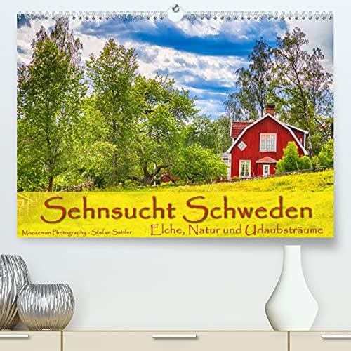 Sehnsucht Schweden - Elche, Natur und Urlaubsträume (Premium, hochwertiger DIN A2 Wandkalender 2022, Kunstdruck in Hochglanz)