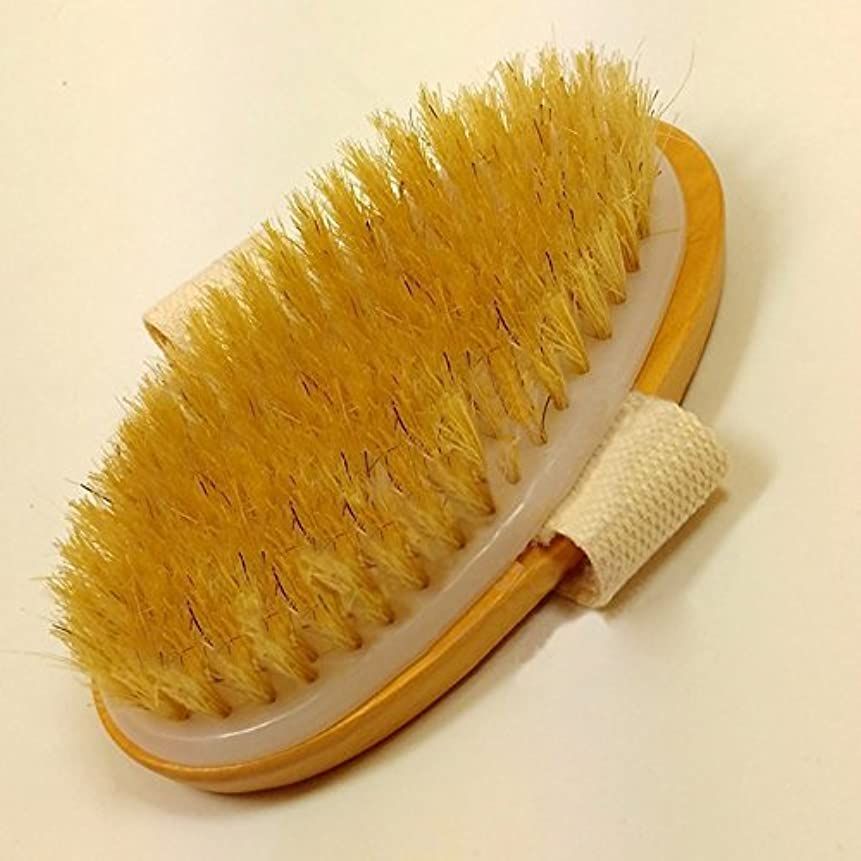 週末気配りのあるナラーバーGeneric Dry Skin Body Brush Natural Bristle Brush Soft Handle Pouch Brush SPA Brush Sale