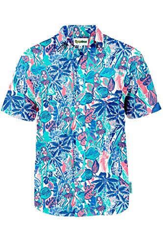Tipsy Elves The Island Breeze Hawaiian Shirt: Medium