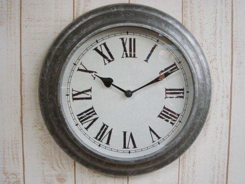 【ブリキ・ウォールクロック(S) 壁掛け時計 アンティーク おしゃれ】 コベントガーデン covent garden CO-BR-31