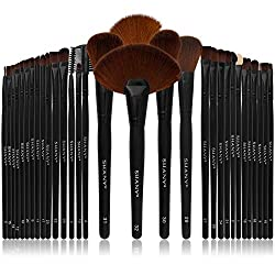Bộ cọ trang điểm 32 cây SHANY Professional Brush Set with Leather-Look Pouch, 32 Count Goat & Badger