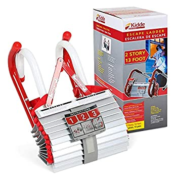 468193 KL-2S Two-Story Fire Escape Ladder with Anti-Slip Rungs 13-Foot Pack of 4