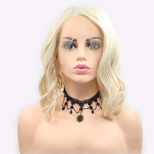 CHUDAN+ Kurzes Haar Lockiges Haar Perücke Volle Perücke Für Damen Party Halloween Cosplay Und Den T ichen Gebrauch Mit Free Wig Cap CremeWeiß