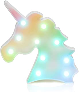SKEIDO Colorful Unicorn Light Unicorn Party Supplies Kids Unicorn Colorful Unicorn Lamp Battery Operated Table Decoration...