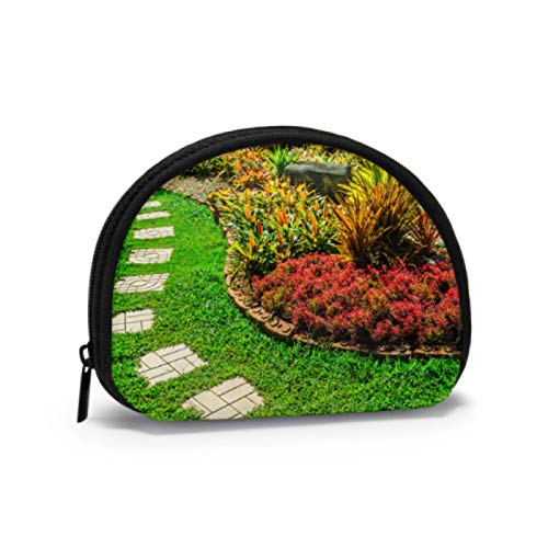 Coin Pouch For Boys Beautiful Garden Wild View Girls Coin Purse Coin Purses For Women with Zipper Mini Cosmetic Makeup Bags For Women Girls Party Gifts and Decorations