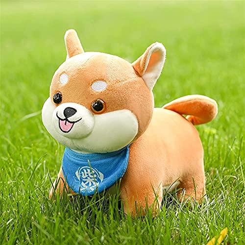 Animal de peluche de juguete lindo de algodón de peluche de juguete Animal perro con cuello campana muñeca almohada decoración de la habitación juguetes niños bebé Gif