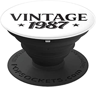 32nd Birthday Gift For Him & Her Born In 1987 PopSockets Grip and Stand for Phones and Tablets