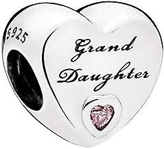 granddaughter charms for bracelet