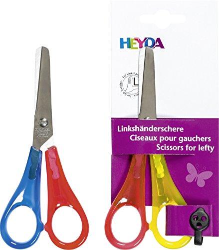 Heyda 2048088 Universele schaar/kinderknutselschaar/linkshandige schaar 13 cm rond voor linkshandigen.
