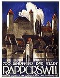 RZHSS Schweiz St.Gallen Tourismus Kunst Poster Leinwand