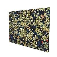 "William Morris ウィリアムモリス 命の木 インテリア キャンバス 絵画 家の壁 装飾画 壁飾り 壁ポスター パネル インテリア 装飾 ソファの背景絵画 12"" X 16"" 雰囲気 癒し"