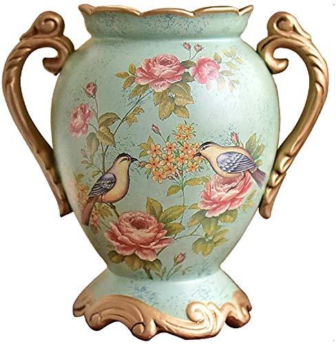 Vase Dekoration Große Europäische Keramik Dekoration Wohnzimmer TV-Schrank Esstisch Veranda Dekoration Blumenanordnung JXLBB (Size : B)