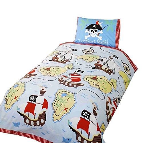 Parure de lit Simple pour Enfant Pirate 135 x 200cm