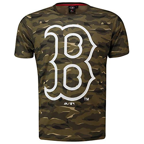 MLB T-Shirt Boston Red Sox Digi Camo Camouflage Logo Baseball (XL)