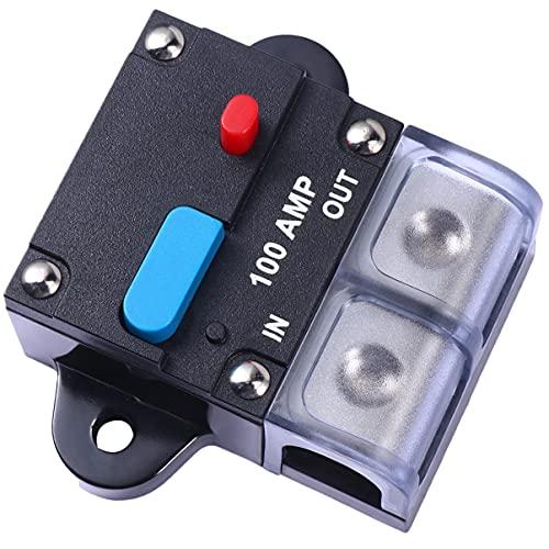 VICASKY Interruptor de Circuito Amp 100A Interruptor de Circuito Rearmable para Coche Fusible de Recuperación Automática Botón de Reinicio Manual Interruptor de Circuito Accesorios para