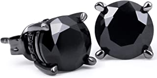 ASAMO Damen Ohrhänger oval mit farbigen Steinen 925 Sterling Silber plattiert