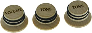 KAISH Maple Wood Knobs LP/Strat Style Volume Tone Top Hat Knobs Bell Knobs for Metric 5.8mm Split Shaft Pots
