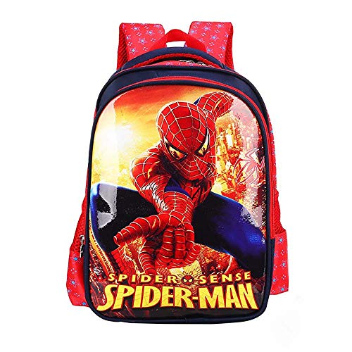 Cartoon Backpack 14.2''10.2'' Waterproof Comic Backpack for Boys and Girls (Red)