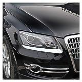 SUJIE Faro de Cejas Chrome ABS Delantera del Coche lámpara de la Linterna de la ceja del párpado de la Cubierta Tira de Ajuste Styling Compatible con Audi Q5 2009 2010 2011 2012 Accesorios Durable