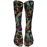 Photo de Taylor Fred Le football coloré de chaussettes de compression de chaussettes hautes de chaussettes de chaussettes hautes de chaussettes pour courir, médical, sportif, voyage