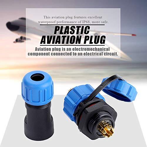 Excelente 2pin, 3pin, 4pin, 5pin, 6pin, 7pin, 9pin, enchufe de aviación 6.5cm alambre de metal de aviación hecho de plástico, metal