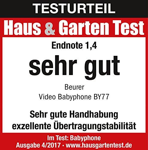 Beurer BY 77 - Vigila bebés, modo ECO+ con video, color blanco y gris