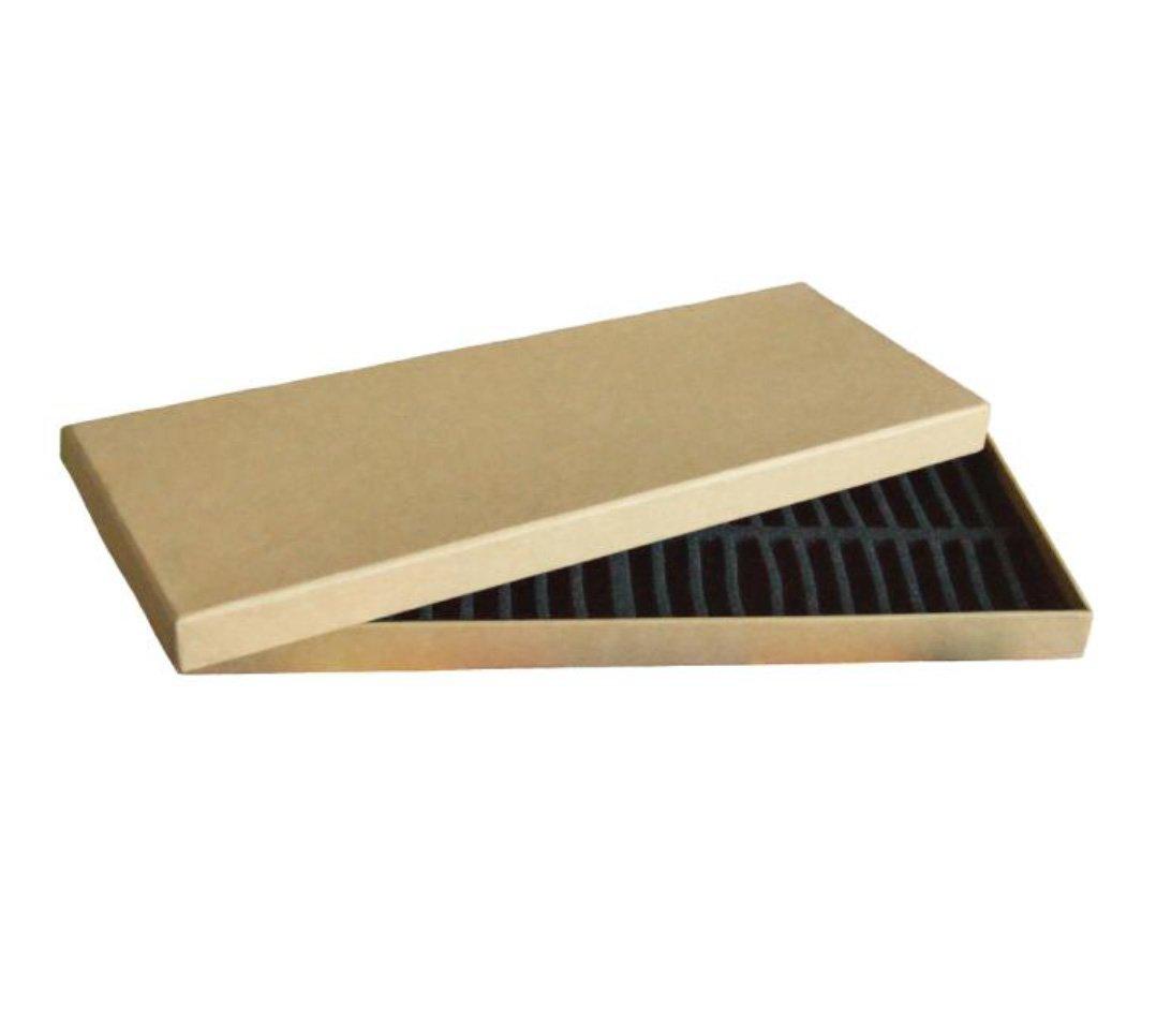 NidArt Caja de cartón con compartimentos para guardar 48 pinturas al pastel: Amazon.es: Hogar