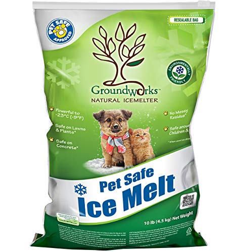Groundworks All Natural Child Pet Plant and Concrete Safe Fast Acting Ice Melt 10 Pound Bag