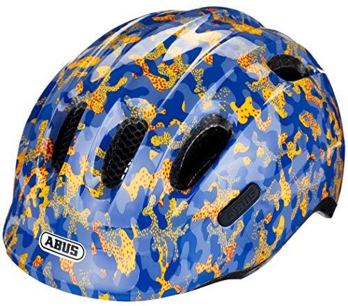 ABUS Smiley 2.0 Kinderhelm - Robuster Fahrradhelm für Mädchen und Jungs - 86957 - Blau mit Camouflage-Muster, Größe S