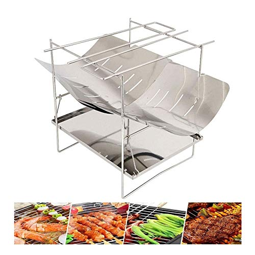 MASP Fire Pit,Outdoor Patio Steel Fire Pit,tableto Charcoal Grill Portable Barbecues Stainless Steel Charcoal Barbecue Smoker, Folding Portable BBQ For 2-5 Persons Family Garden Outdoor Cooking Hiking